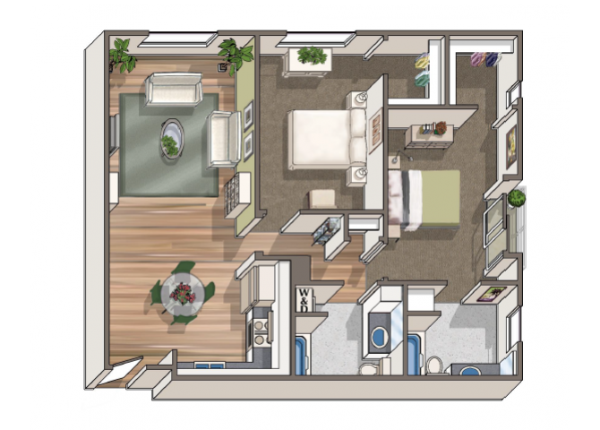 The Dupre floor plan  at 1801 L | Sacramento, CA 95811