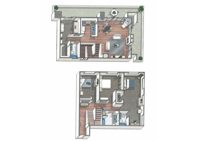 The Elsen floor plan  at 1801 L | Sacramento, CA 95811