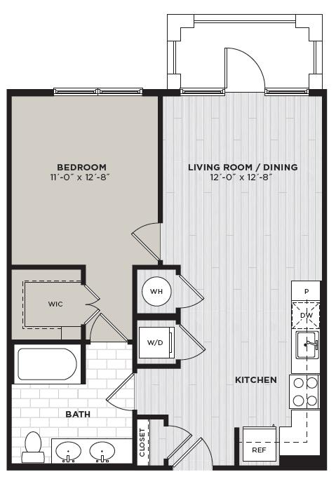 Two Bedroom Apartments Alexandria Efficiency Apartment Floor Plans