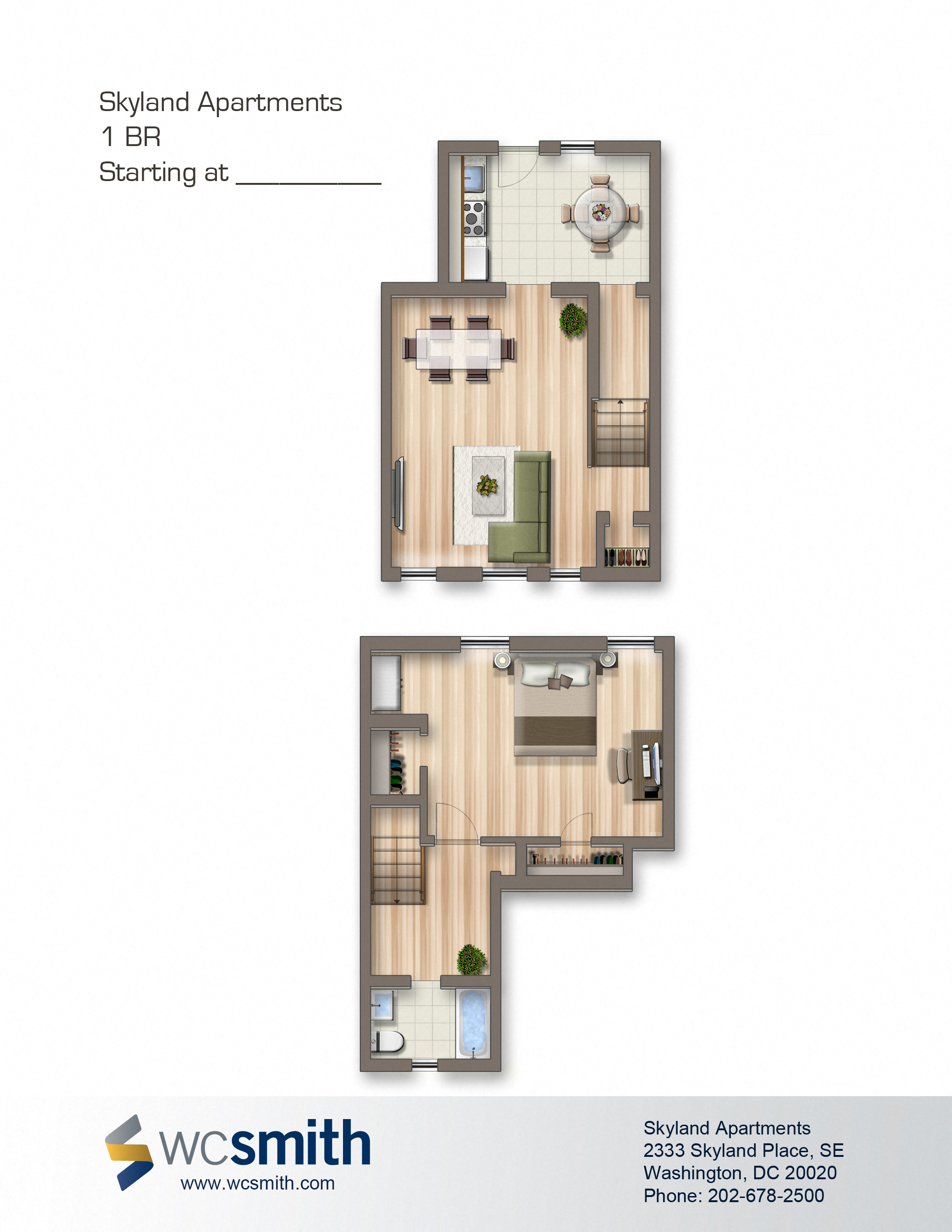 1 Bedroom Duplex