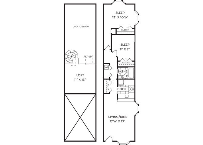 Dsf talleyrandfp b1l loft 2b1b 971sf new