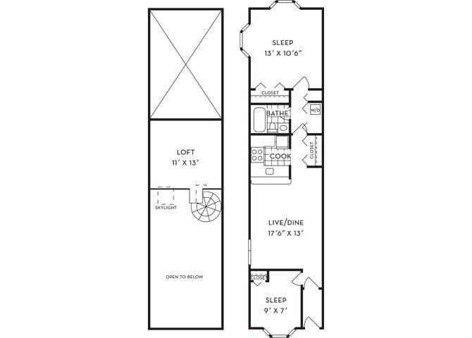 Dsf talleyrandfp b1ls loft 2b1b 971sf new