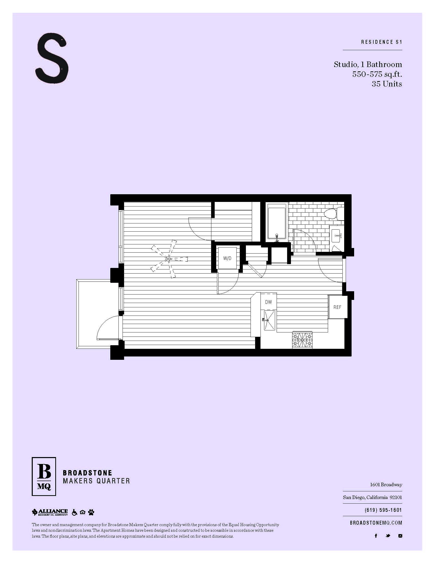 Floor Plans & Availability   BMQ Studio, 1- and 2-Bedrooms