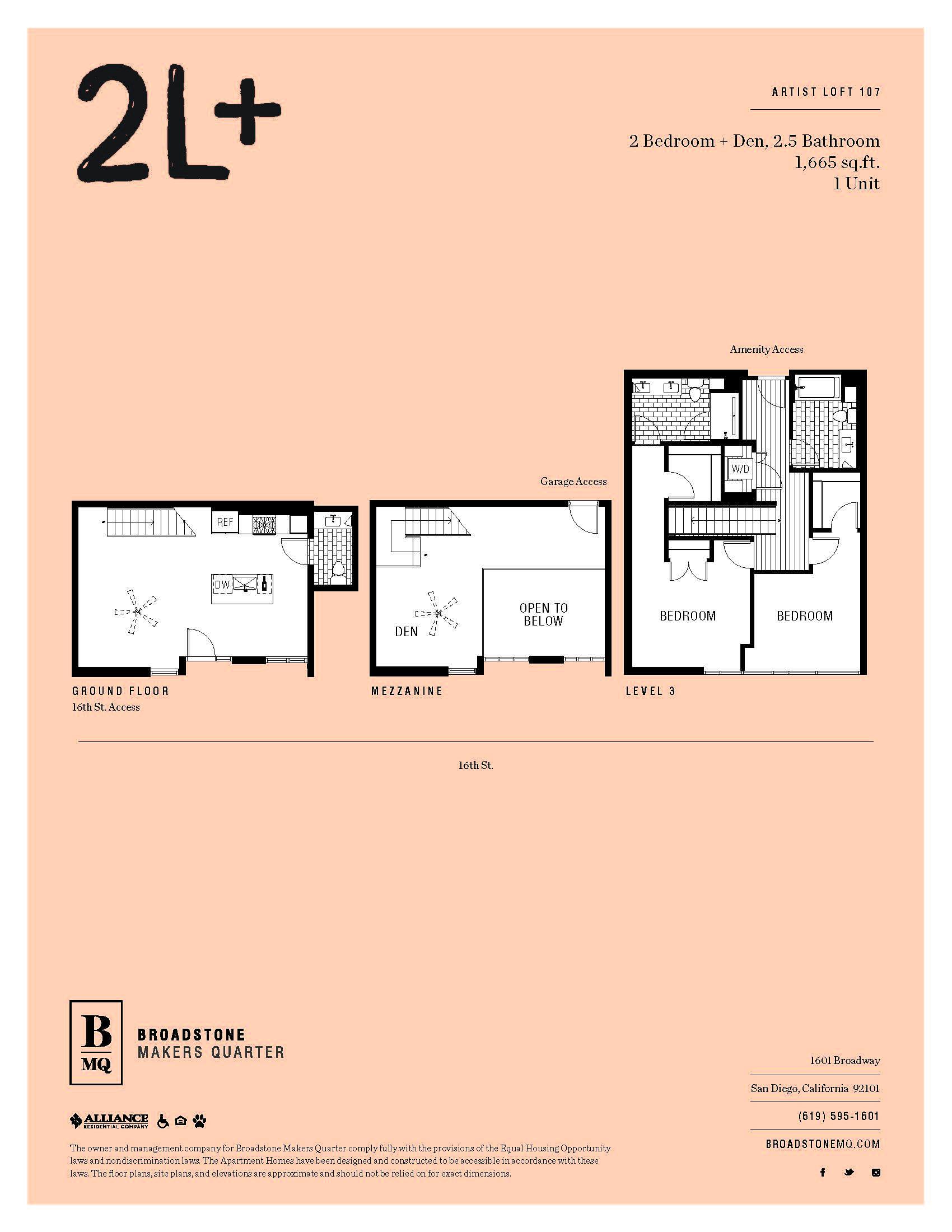 Floor Plans & Availability | BMQ Studio, 1- and 2-Bedrooms