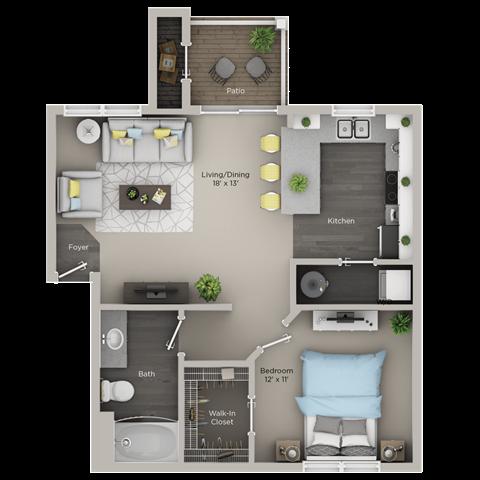 One Bedroom, One Bath (Ar)