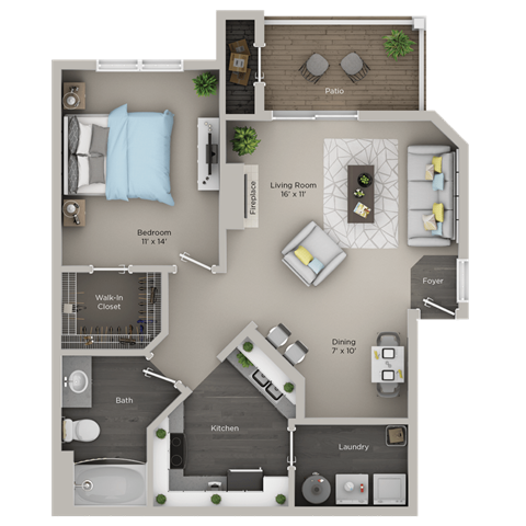 One Bedroom, One Bath (A1r)
