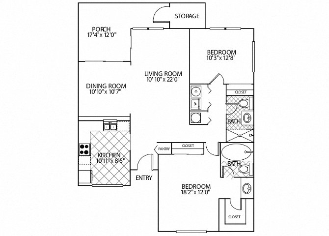 floor plan image of apartment in Alameda