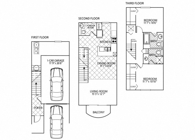 floor plan image of apartment in Barcelona
