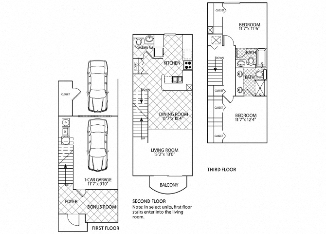 floor plan image of apartment 2505