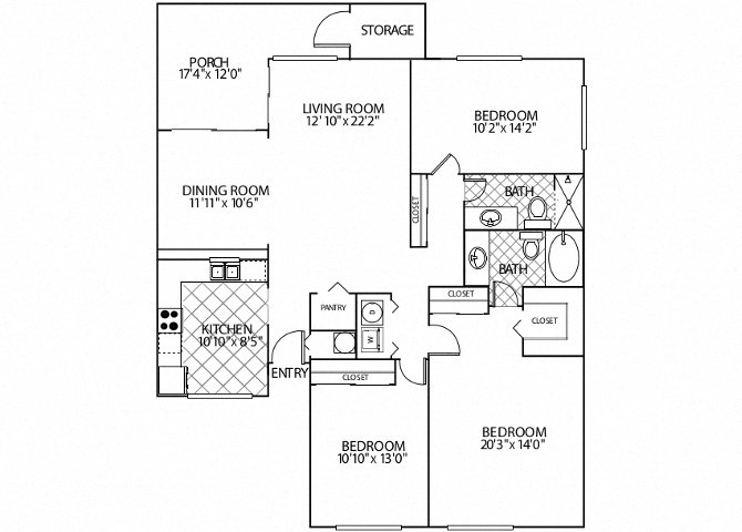 floor plan image of apartment in Madrid
