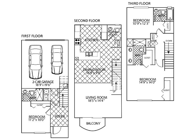 floor plan image of apartment 0203