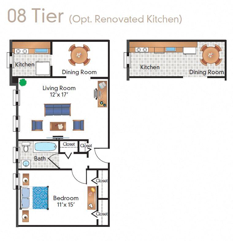 Renovated 1 Bedroom - 08 Tier