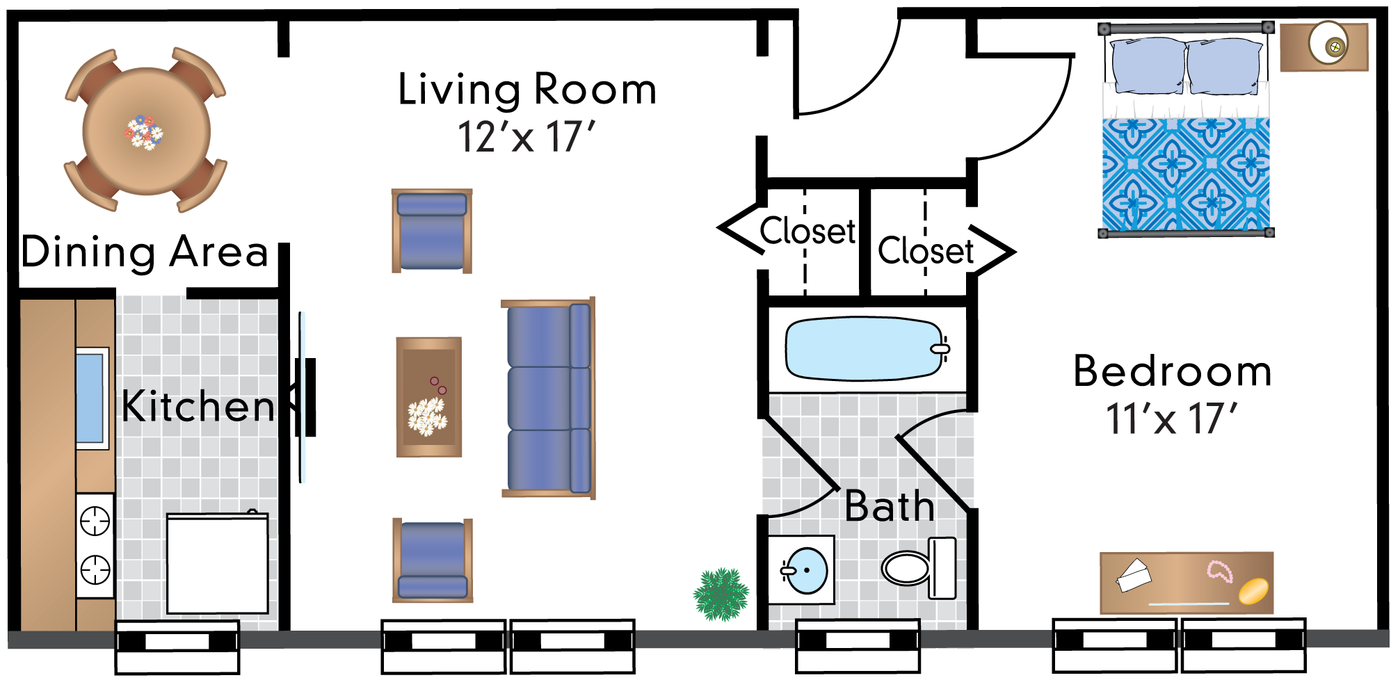 1 Bedroom 06 Tier