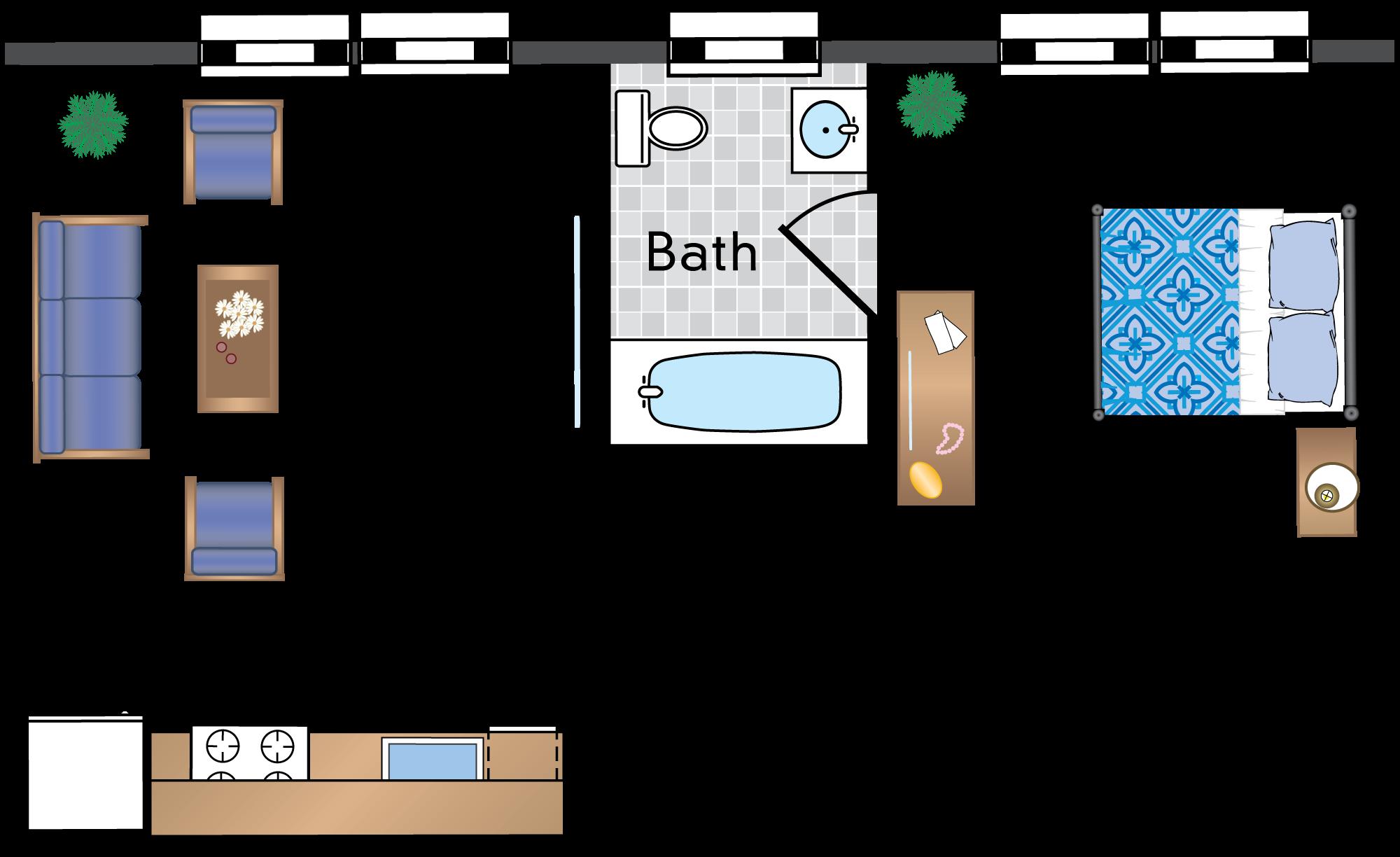 1 Bedroom 14 Tier - Renovated