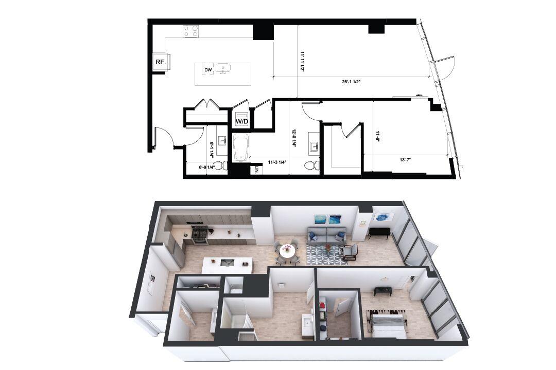 Studio 1 2 3 Bedroom Apartments Alina Los Angeles