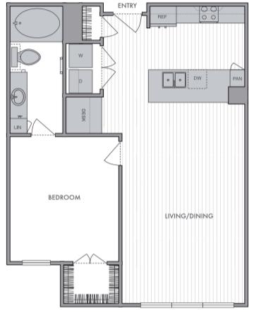 Floor Plans Luxury Studio 1 2 Bedrooms Omnia At Town Center