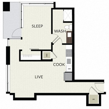 Floorplan image of unit 1215
