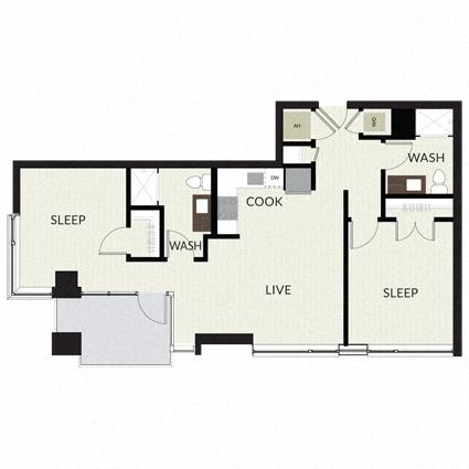 Floorplan image of unit 0202