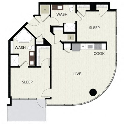 Floorplan image of unit 0410
