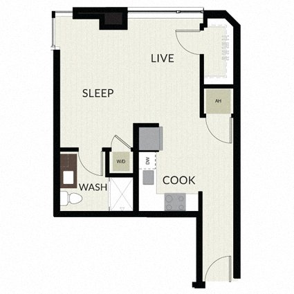 Floorplan image of unit 1707