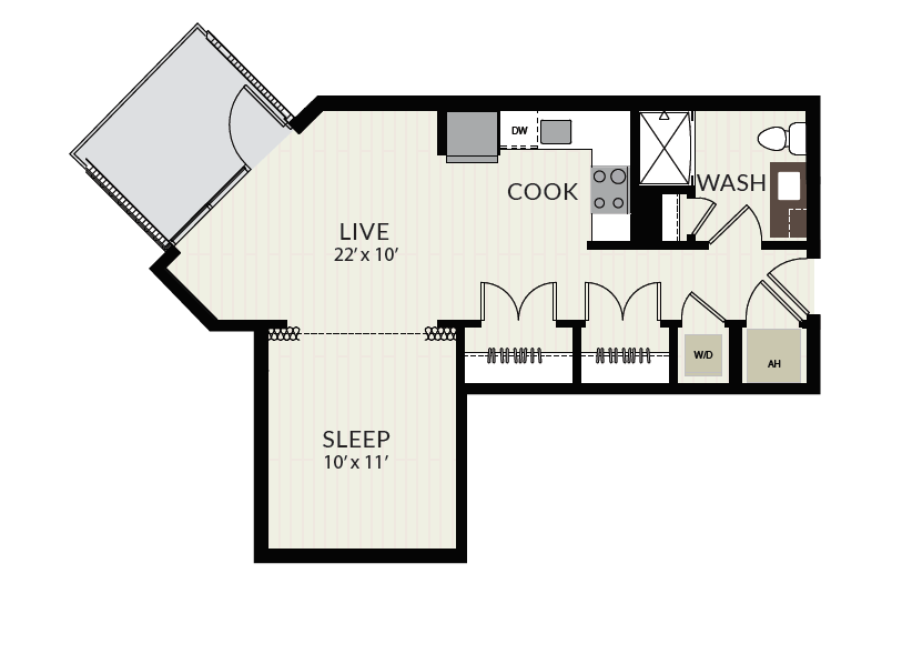 Floorplan image of unit 1311