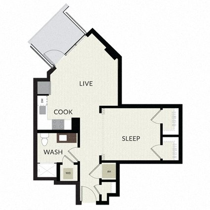 Floorplan image of unit 0509
