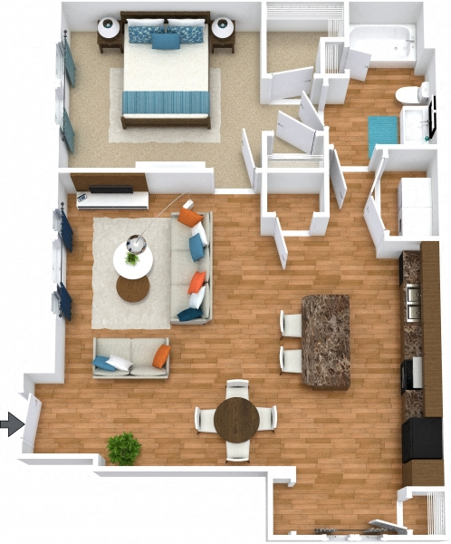 Grand Courtyard - One Bedroom