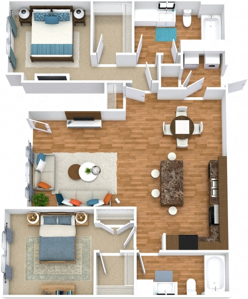 Grand Courtyard - Two Bedroom