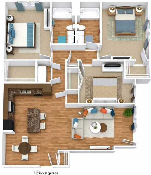 Grand Courtyard - Three Bedroom