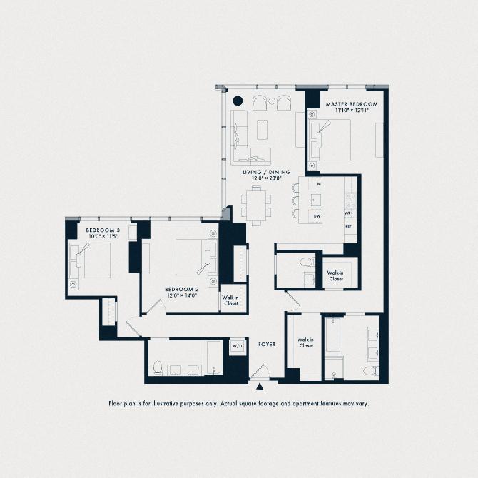 709 One Waterline Square Floor Plan