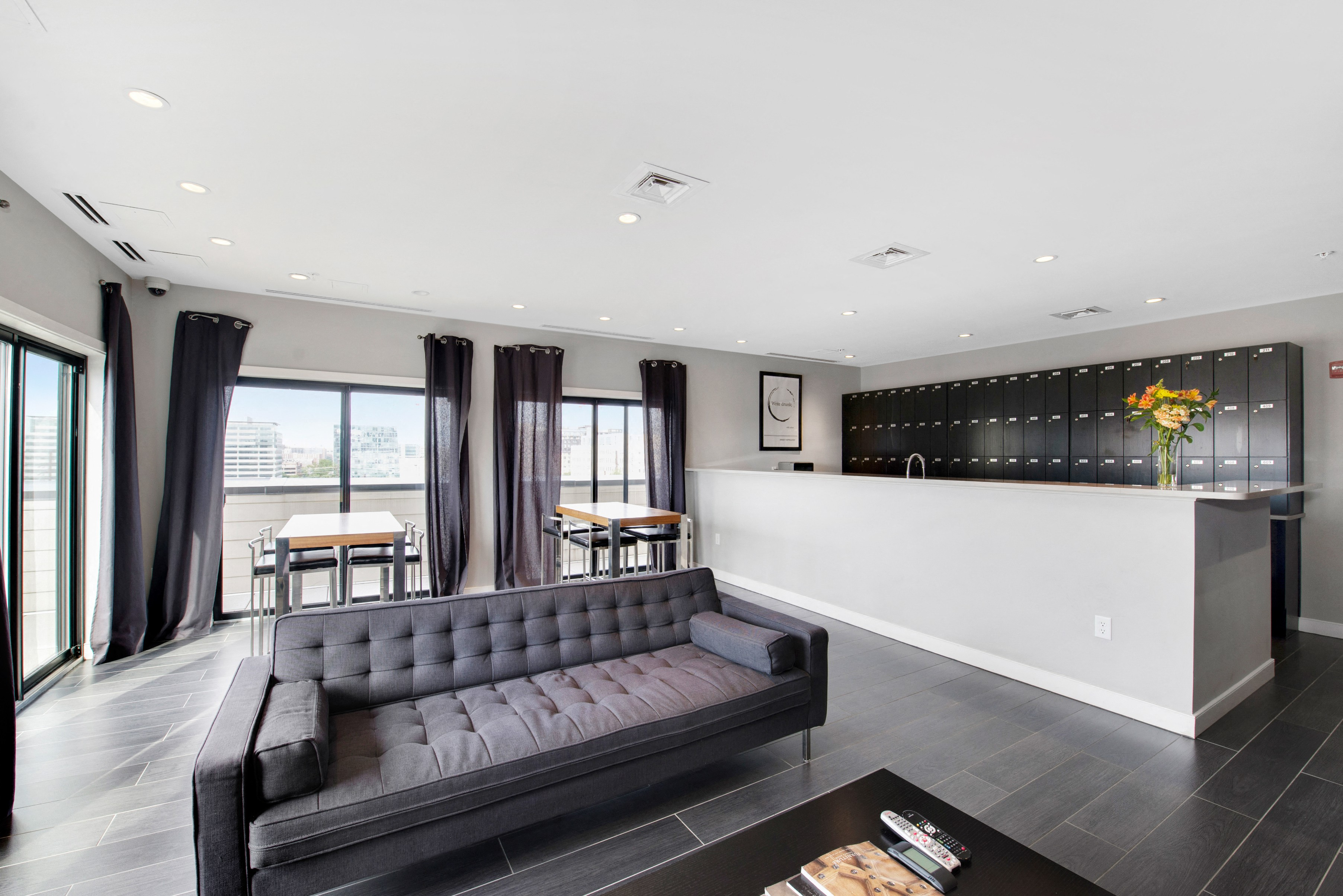 unique lounge area