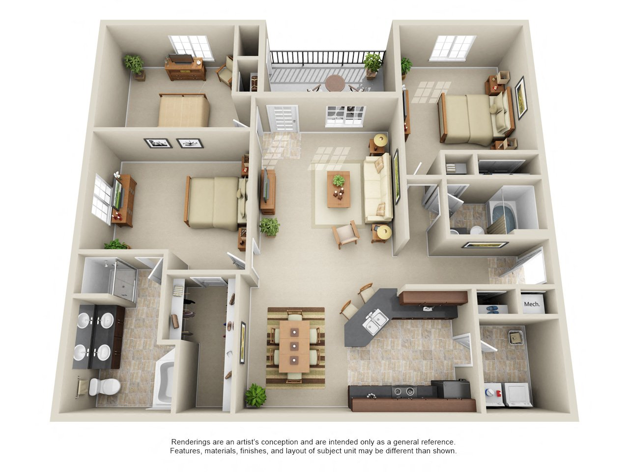 Three Bedroom Condo (North)