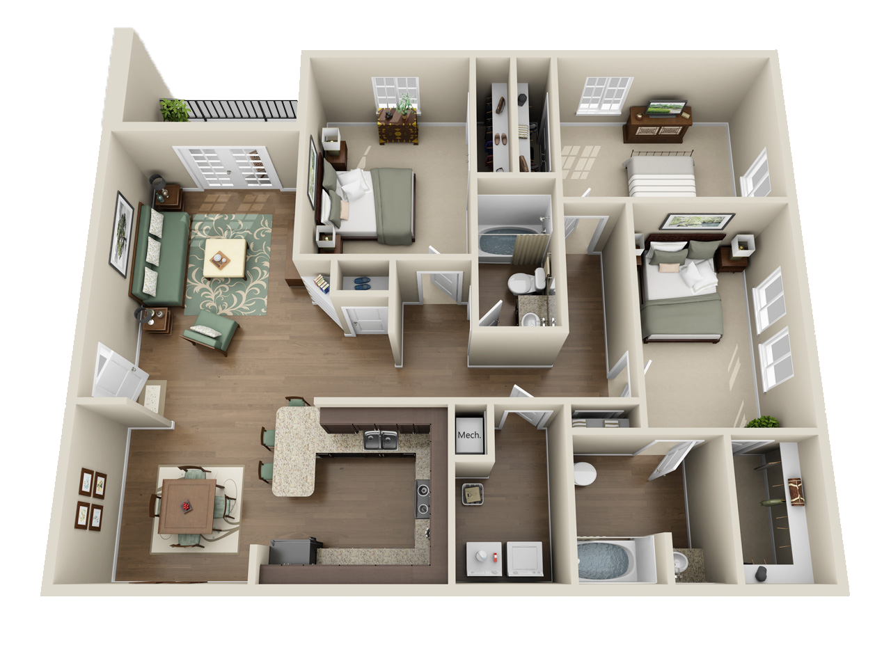 Three Bedroom Premium (North)