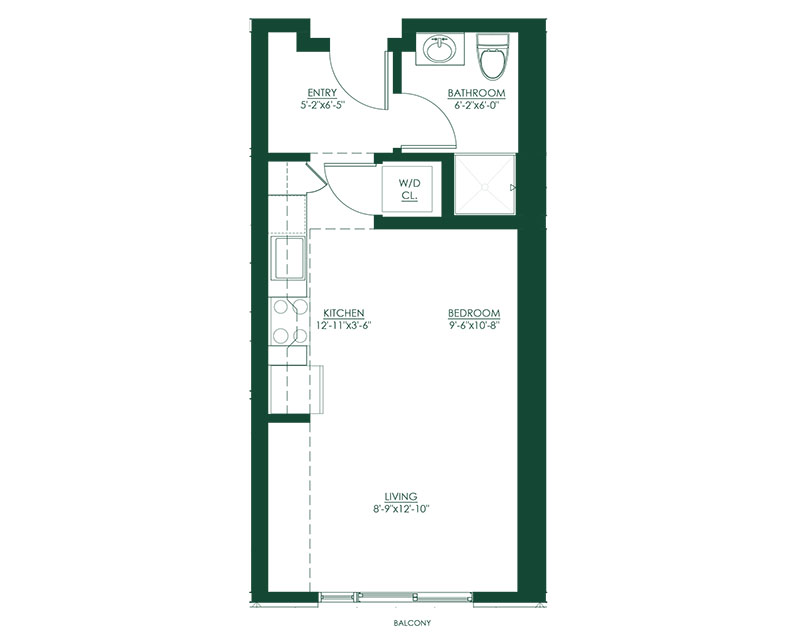 Studio A Master Suite Floor Plan