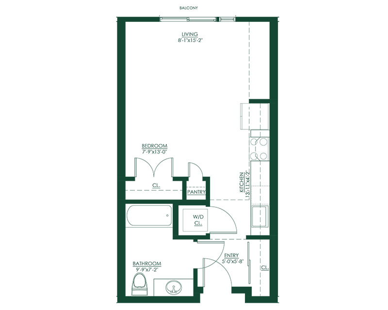 Studio B Type A Floor Plan