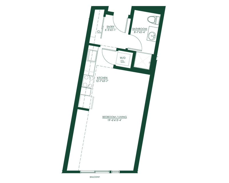 Studio C2 Floor Plan
