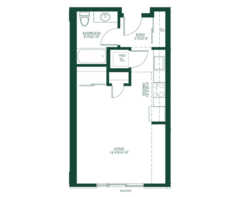 Studio B1 Master Suite Floor Plan