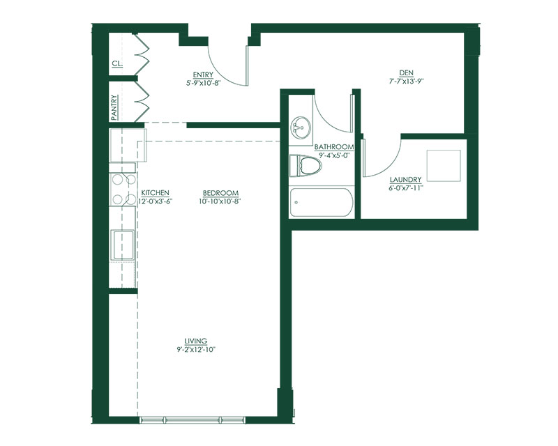 Studio A1 Master Suite Floor Plan