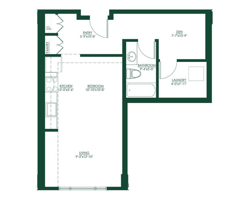 Studio A1 Floor Plan