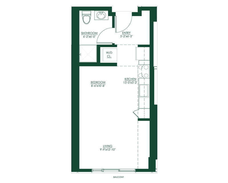 Studio A2 Master Suite Floor Plan