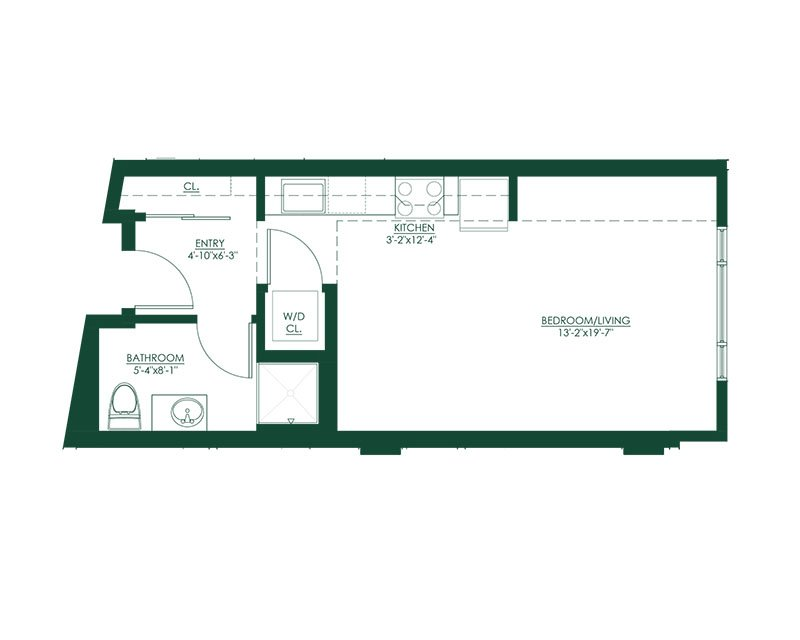 Studio C1 Master Suite Floor Plan