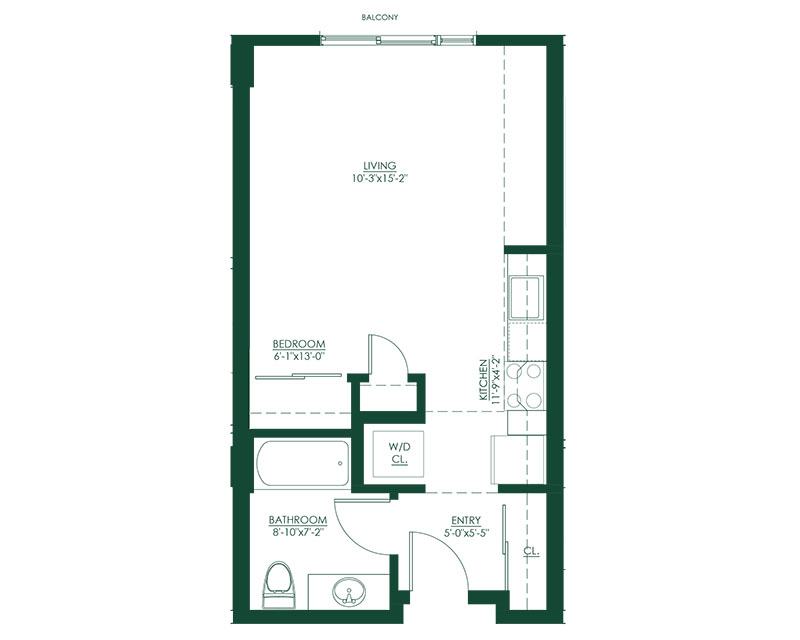Studio B Master Suite Floor Plan