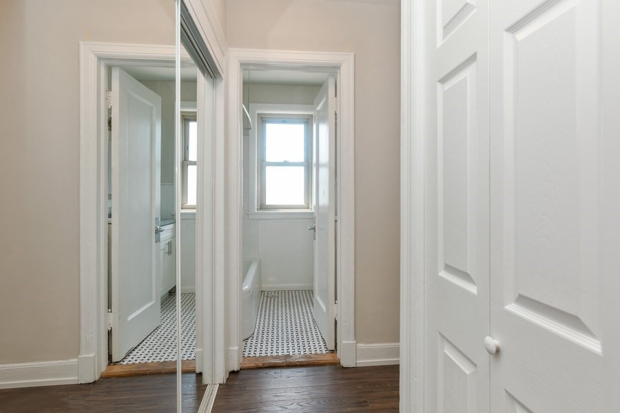 hardwood floor and large closets in l