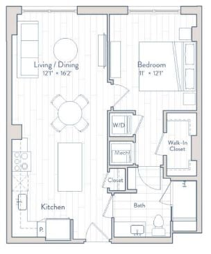 Floor plan of apartment 0113