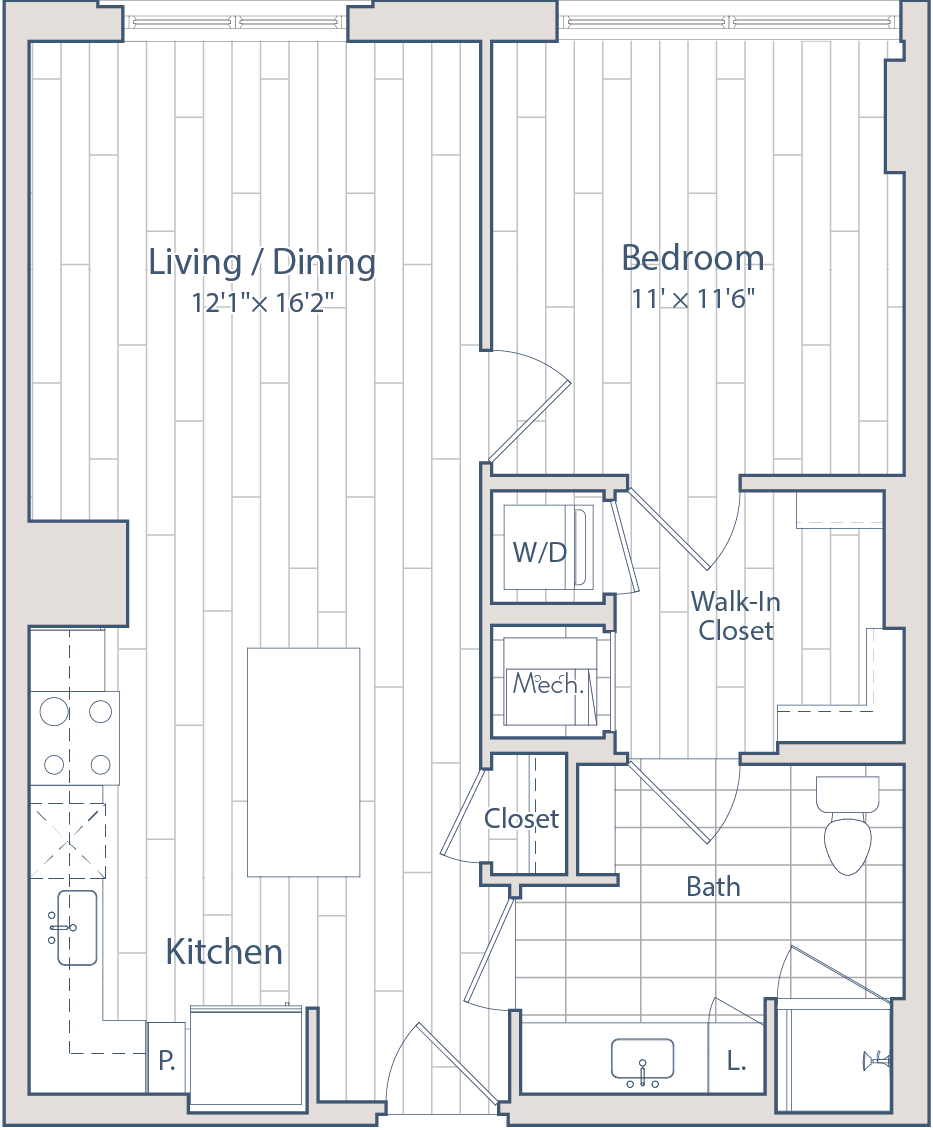 Floor plan of apartment 0821