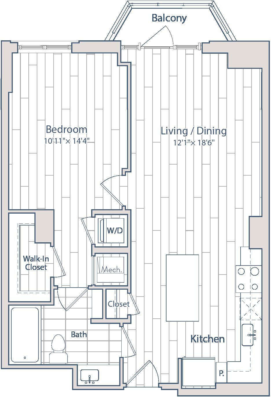Floor plan of apartment 0603