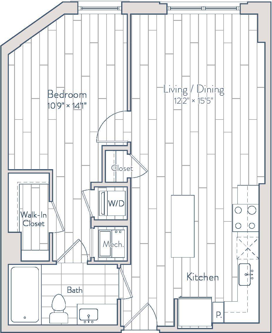 Floor plan of apartment 0532