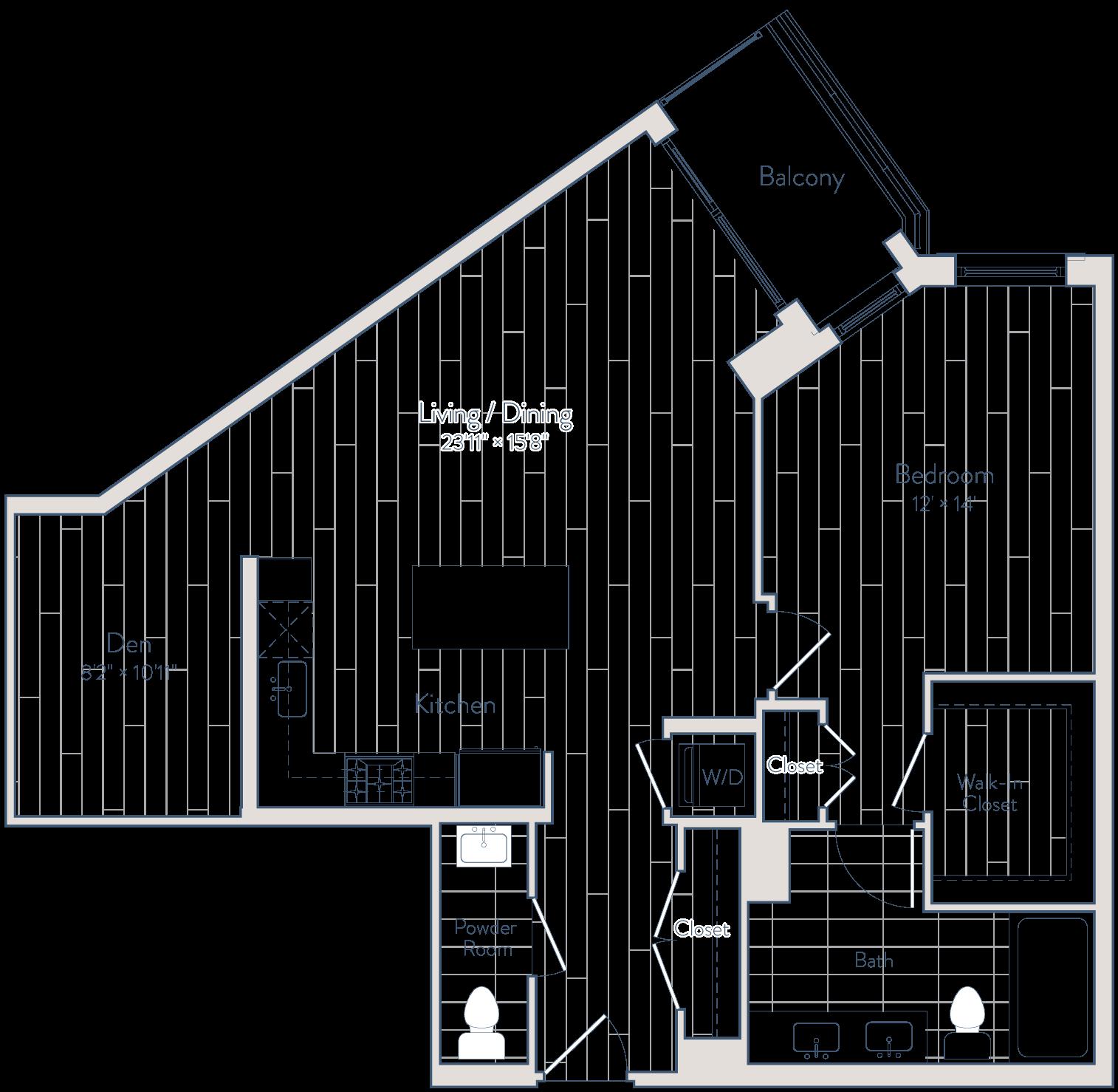 Floor plan of apartment 1230