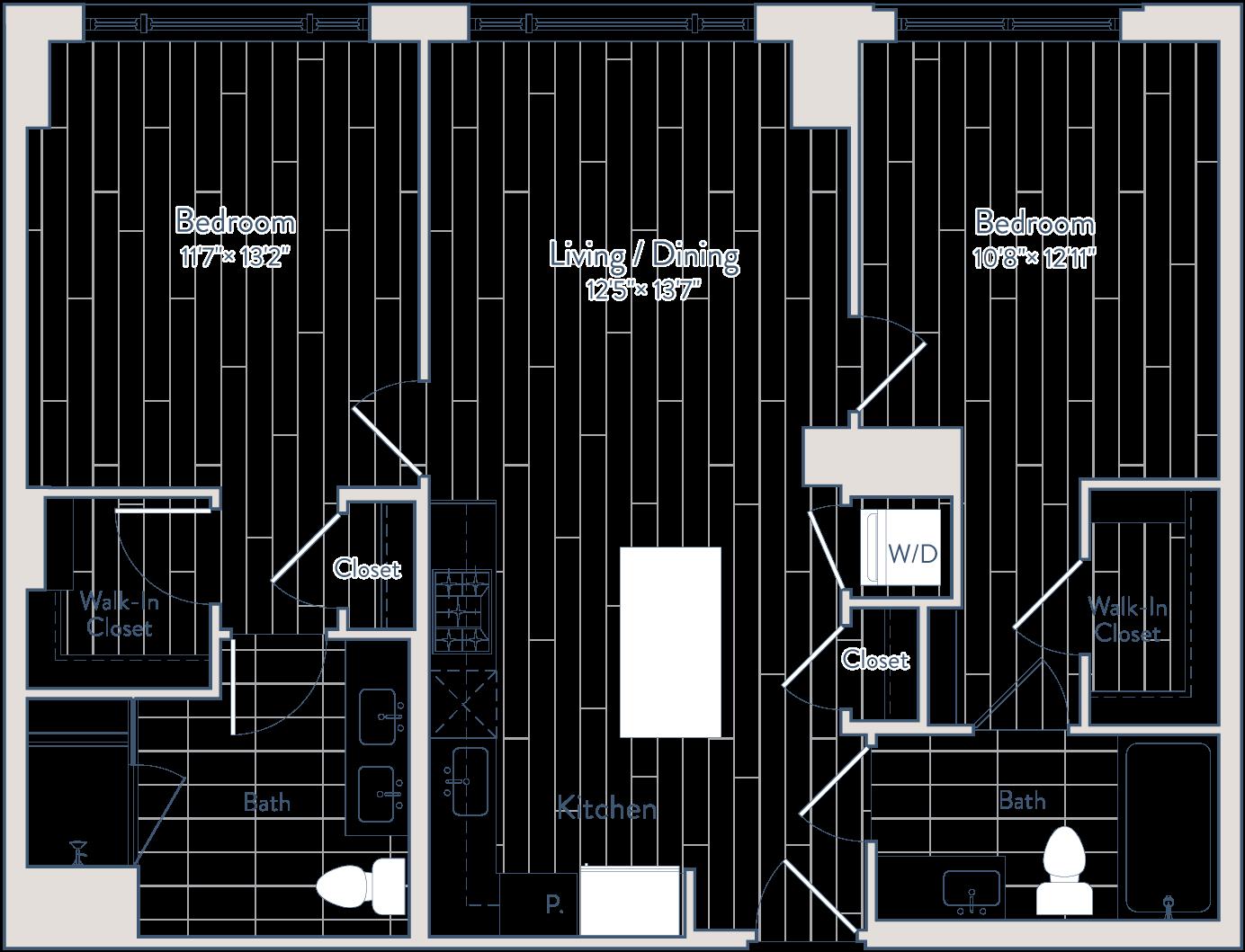 Floor plan of apartment 1111
