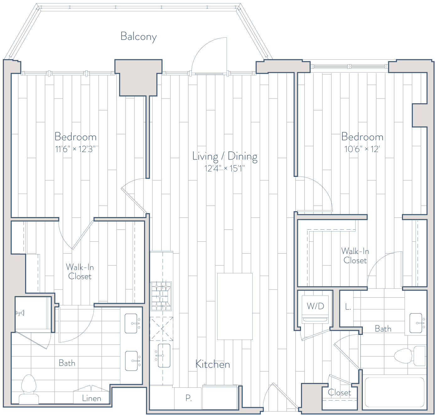 Floor plan of apartment 1132